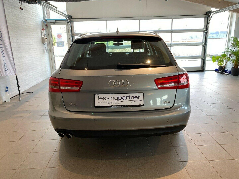 Audi A6 2,0 TDi 163 Avant Multitr. 5d, Sølvmetal