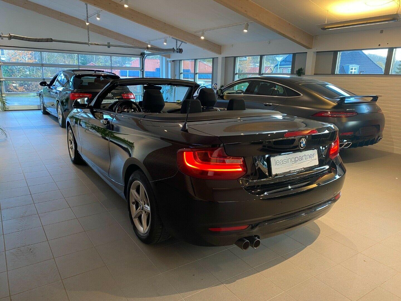 BMW 220d 2,0 Cabriolet aut. 2d, Sort