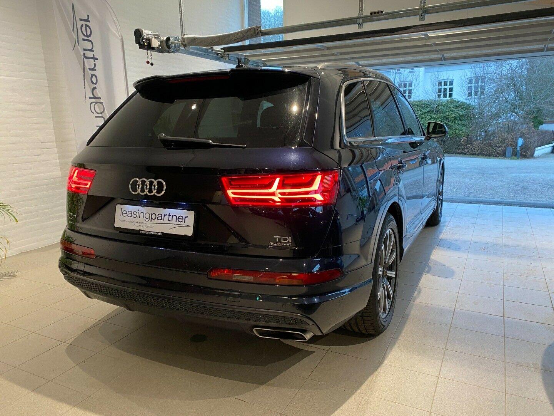 Audi Q7 3,0 TDi 272 S-line quattro Tiptr. 7prs 5d, Blå