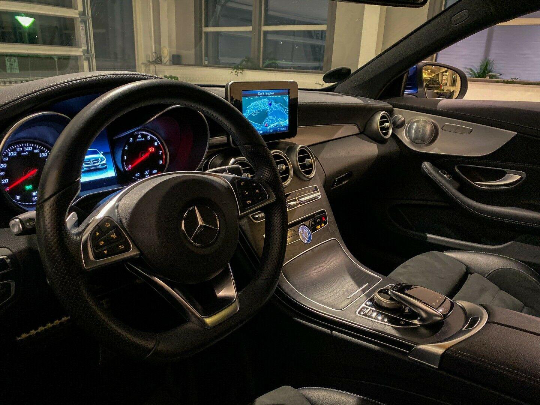 Mercedes C250 2,0 AMG Line Coupé aut. 2d, Blåmetal