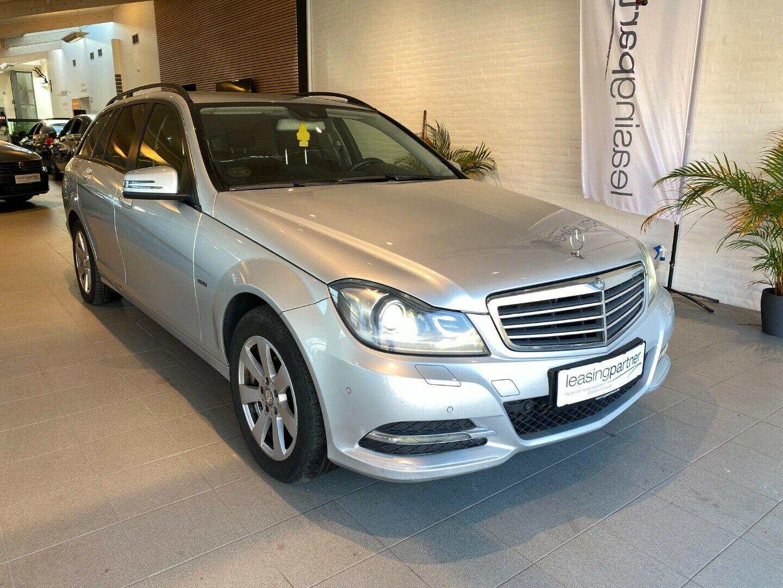 Mercedes C200 2,2 CDi Avantgarde stc. aut. BE 5d, Grå