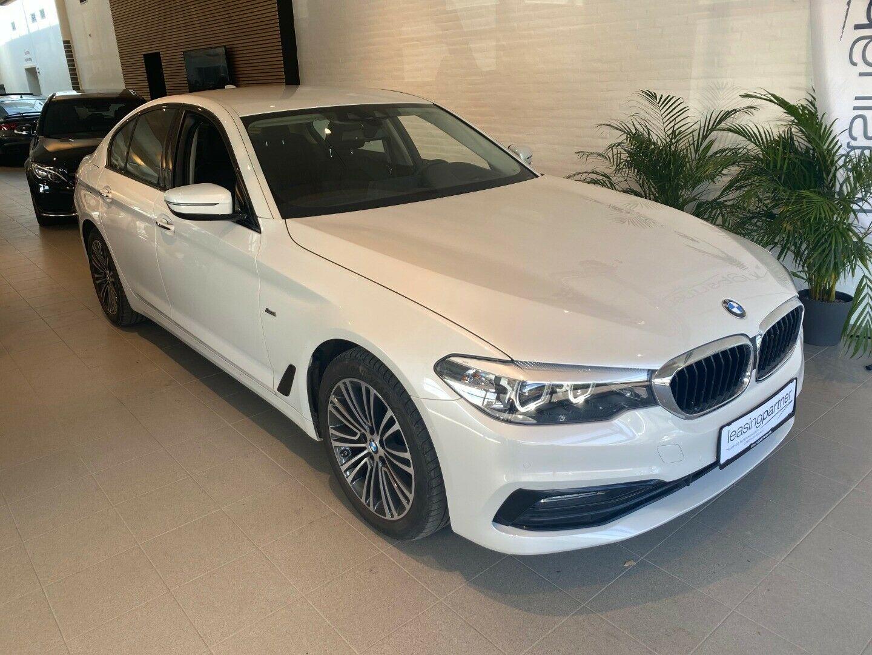 BMW 520d 2,0 Sport Line aut. 4d, Hvid