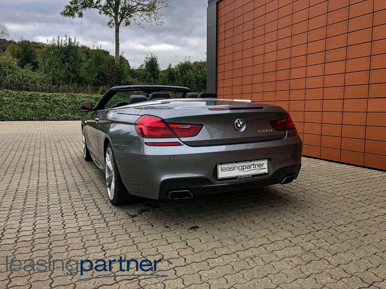 BMW 650i 4,4 Cabriolet aut. 2d, Gråmetal