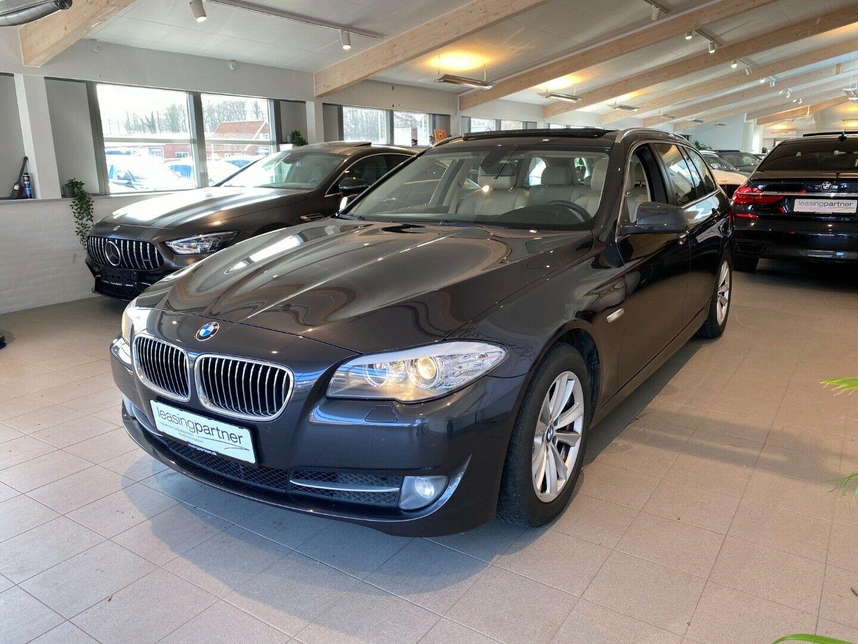 BMW 520d 2,0 Touring aut. 5d, Grå