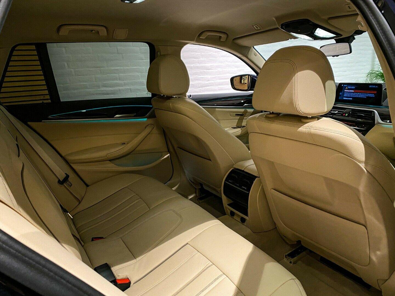 BMW 520d 2,0 Touring Luxury Line aut. 5d, Mørkblåmetal