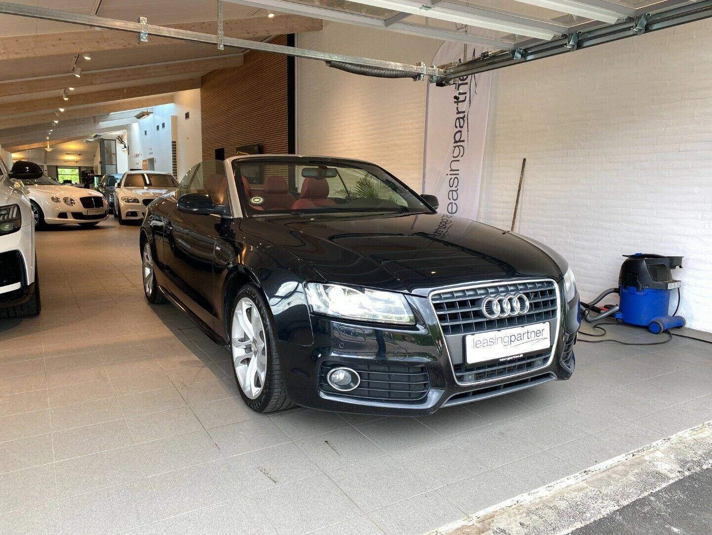 Audi A5 2,0 TFSi 211 Cabriolet 2d, Sort