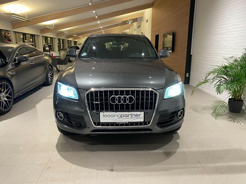 Audi Q5 2,0 TDi 190 quattro S-tr. 5d, Grå