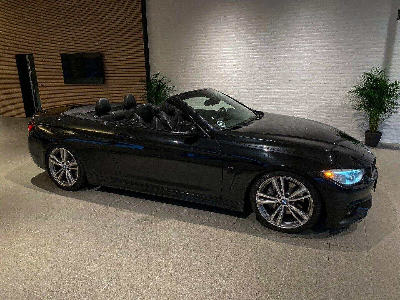 BMW 435i 3,0 Cabriolet M-Sport aut. 2d, Sort