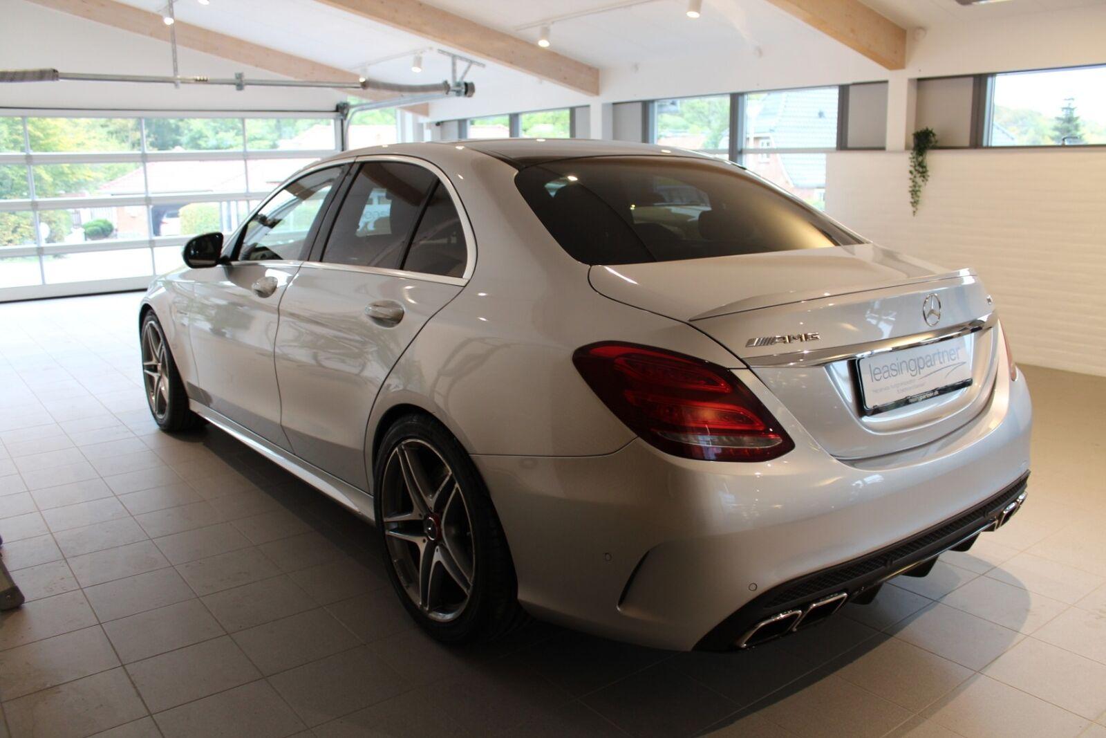 Mercedes C63 4,0 AMG aut. 4d, Sølvmetal